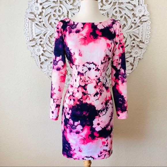Gianni Bini Dresses & Skirts - {Gianni Bini} Watercolor Floral Long Sleeve Dress